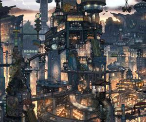 anime, drew, and city image