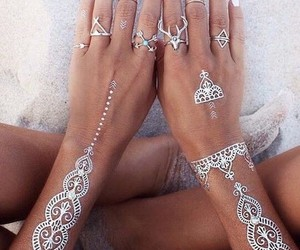 beach, Hot, and nails image
