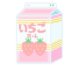 kawaii, pastel, and pixel image