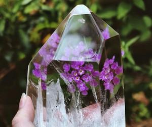 flowers, crystal, and indie image