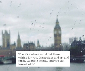 background, london, and quote image