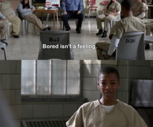 bored, feelings, and orange is the new black image