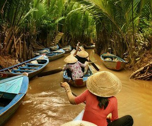 Cambodia, river, and travel image
