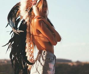 girl, boho, and indie image