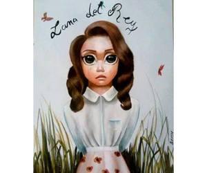 big eyes and lana del rey image