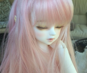 ball jointed doll, bjd, and hair image