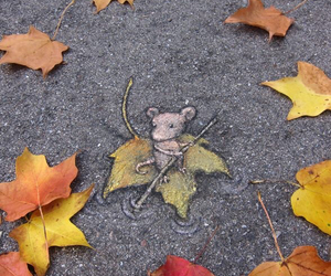 art, mouse, and autumn image