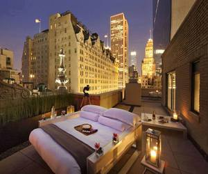bed, city, and new york image
