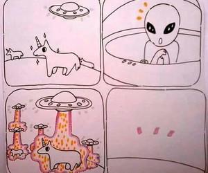 alien, unicorn, and cute image