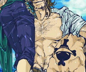 one piece, thatch, and ace image