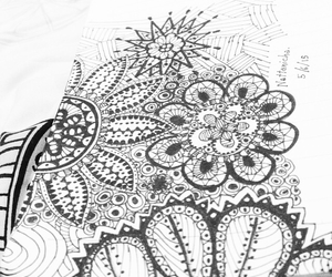 doodle, drawing, and flower image