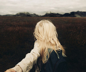 blonde, adventure, and nature image