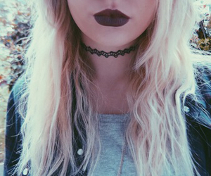 girl, grunge, and lips image