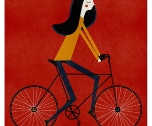 afiche, bicycle, and cartel image