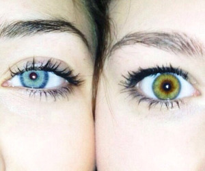 beautiful, pretty eyes, and best friends image