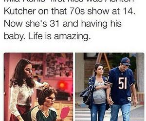 ashton kutcher, Mila Kunis, and love image