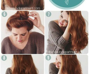 hair, diy, and hairstyle image