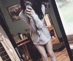 emo, girls, and pale girl image
