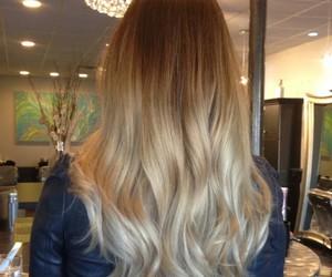 blonde, hair, and hightlights image