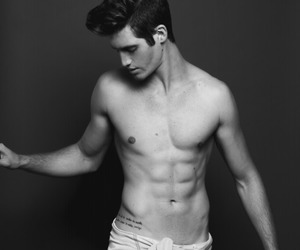 abs, b&w, and bad boy image