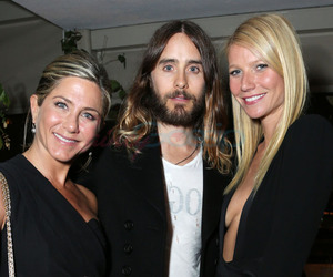 gwyneth paltrow, jared leto, and Jennifer Aniston image