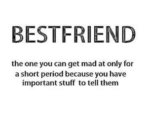 best friends, mad, and quote image