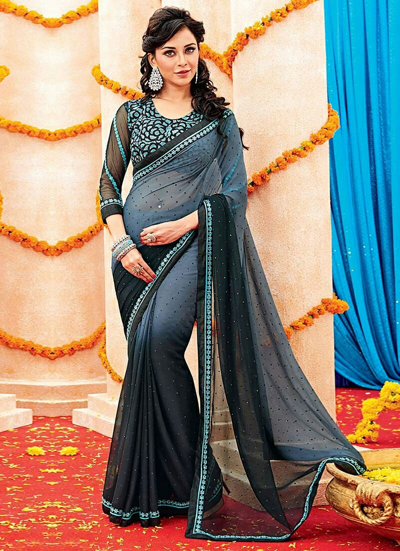 india, saree, and sari image
