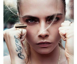 cara delevingne, model, and tattoo image