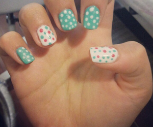 girl, nails, and polish image
