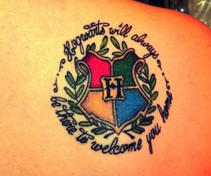 harry potter, hogwarts, and tattoo image