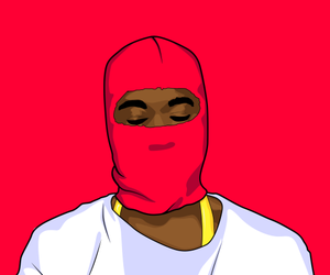 art, gold, and nigga image