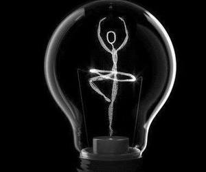 black and white, lightbulb, and photography image