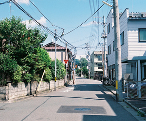 japan, photography, and road image