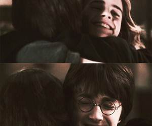 best friends, harry potter, and hug image