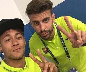 gerard piqué, neymar, and neymar jr image