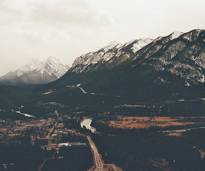 mountains, landscape, and snow image