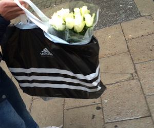 flowers, adidas, and aesthetic image