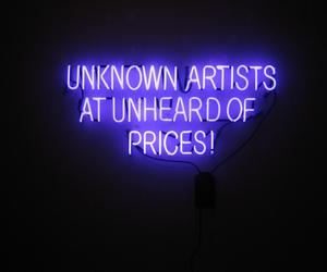 neon, artist, and light image