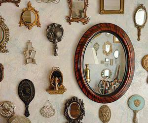 mirror, vintage, and decoration image
