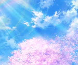 wallpaper, sky, and anime image