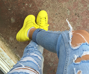 adidas, Jaune, and supercolor image
