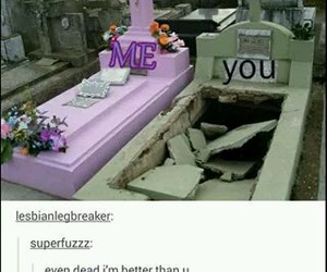 funny, grave, and me image