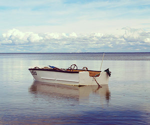 blue, boat, and etsy image