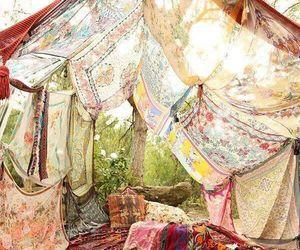 boho, tent, and nature image