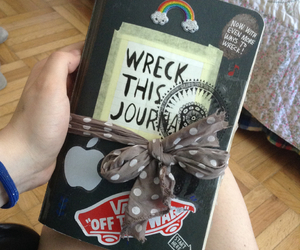 beautiful, journal, and wreck this journal image