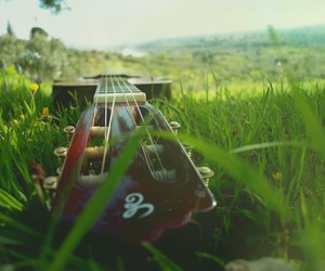 guitar, nature, and music image
