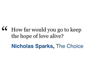 book, nicholas sparks, and the choice image