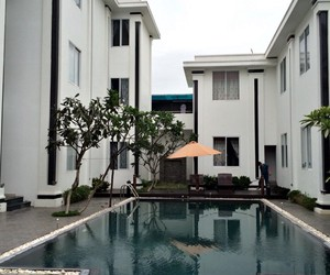 pool, resort, and white apartment image