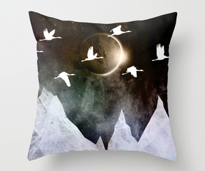 art, bed, and birds image