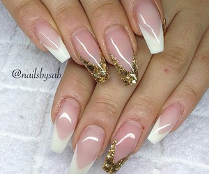 french nails, νυχια, and γαλλικό νύχια image